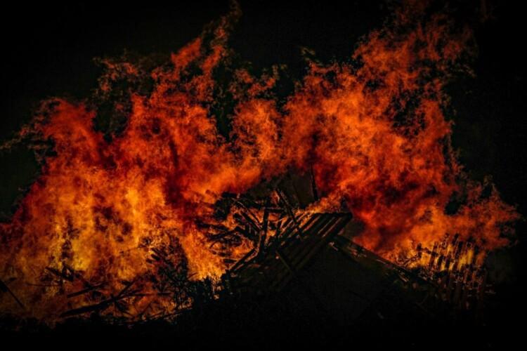 На Горохівщині через пожежу селяни втратили запаси соломи
