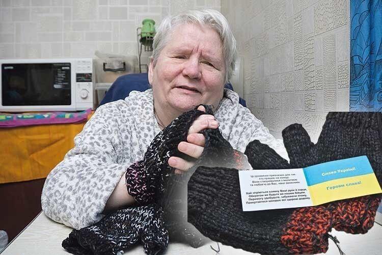 Незряча волонтерка з Волині, яка в'яже рукавички для захисників України, отримала відзнаку РНБО