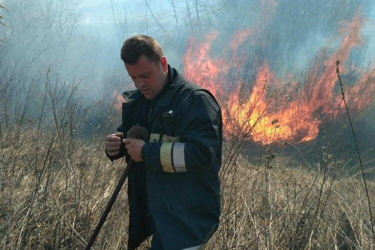 Волинь палає: учора рятувальники загасили 10 пожеж на відкритих територіях