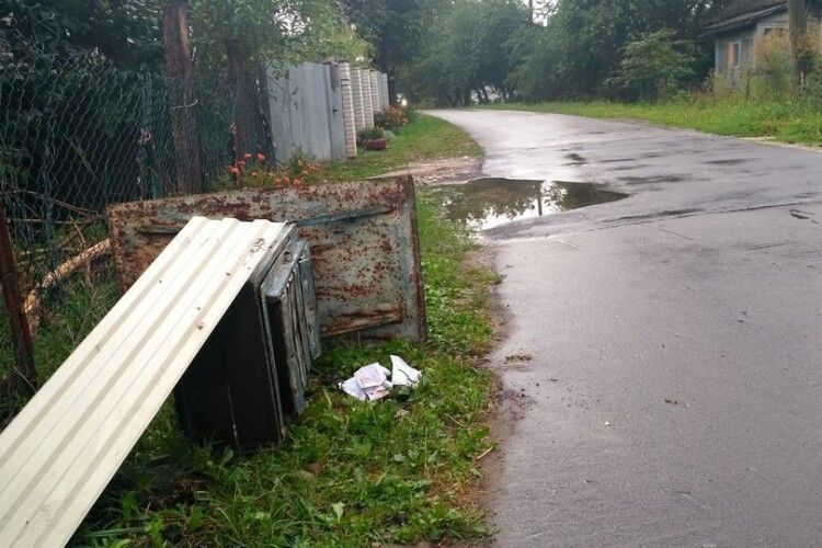 Підлітки у Володимирі трощили все на своєму шляху, били перехожих, стріляли з пістолета (Фото)