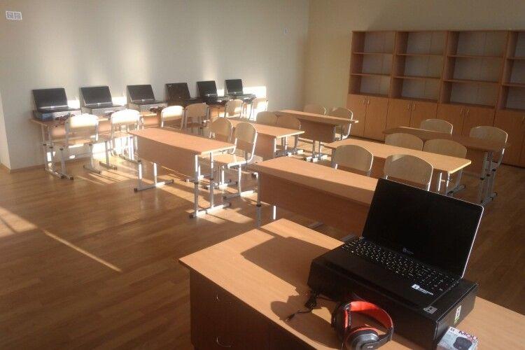 У школі на Турійщині обладнали лінгафонний кабінет (Фото)