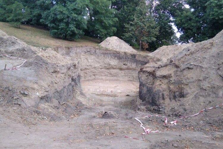 На Житомирщині хотіли встановити флагшток і викопали кістки мамонта (Фото)