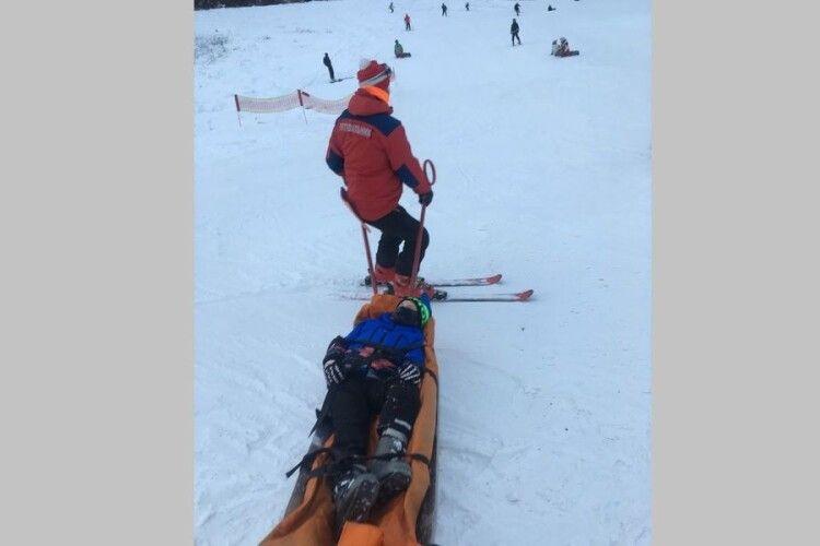Під час катання на лижах травмувалися троє дітей