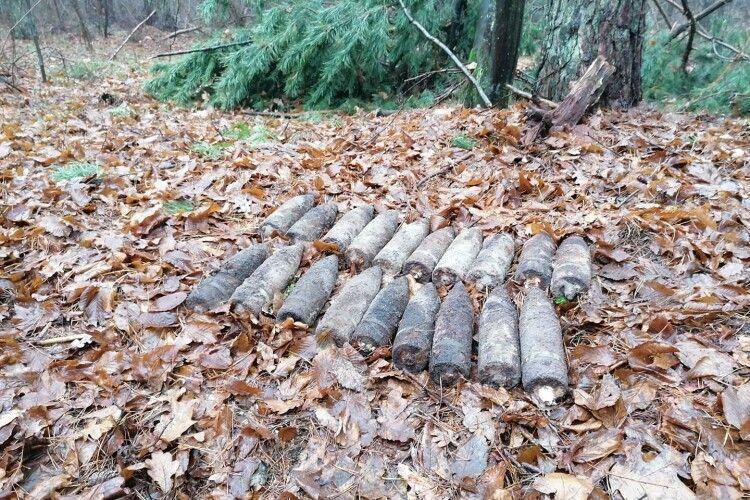На Волині «чорні археологи» знайшли 19 артснарядів і підкинули їх в інше місце