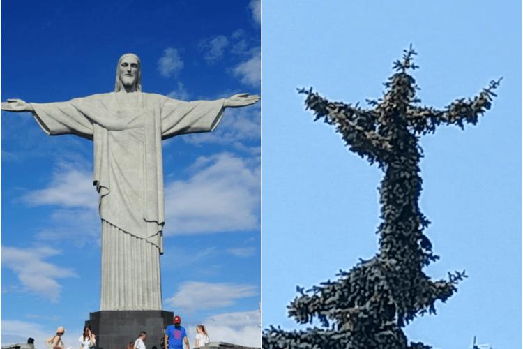 На луцькій ялинці проріс Христос-Спаситель, як у Ріо (Фото)