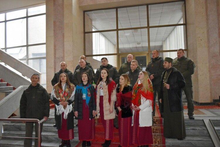 Для волинських чиновників колядував оркестр військової частини 1141 Національної гвардії України