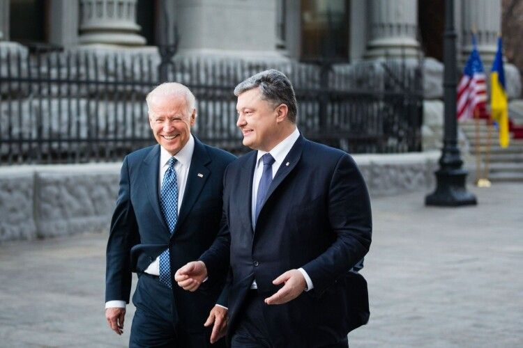 Порошенко Байдену: «Знайте, що в Україні у вас є добрі друзі та союзники»