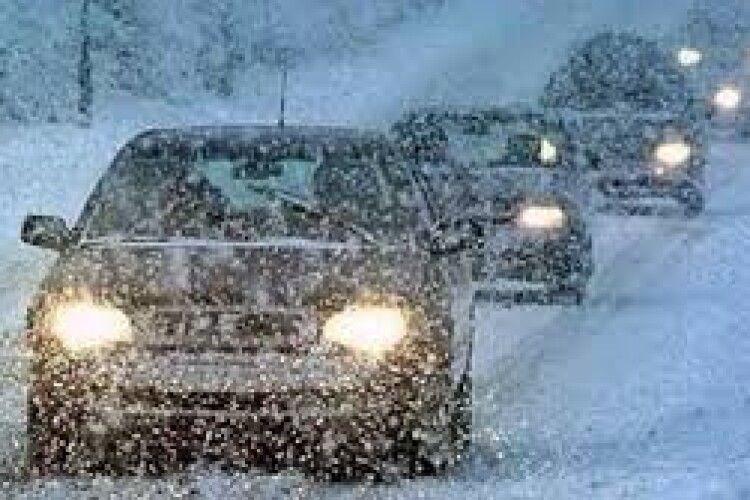 Вітер та сніг: на Волині очікується погіршення погодних умов