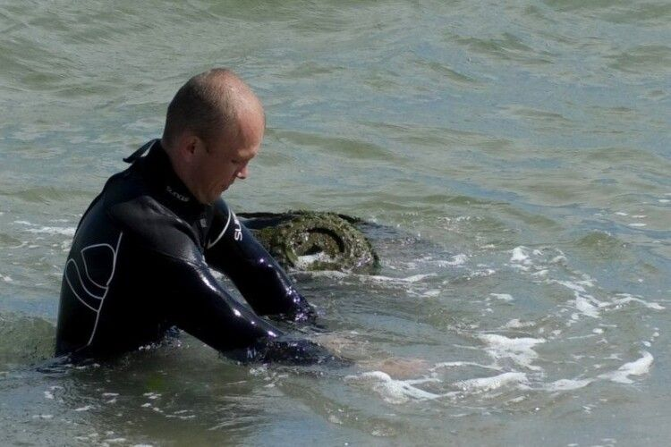 На пляжі в Одесі знайшли міну потужністю 200 кілограмів