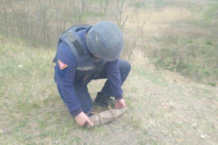 Волинянин знайшов біля лісосмуги вибухівку