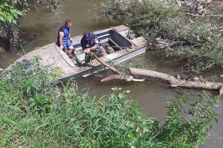 Бобри не винні: на річці Боржава утворилися затори зі сміття (Фото)