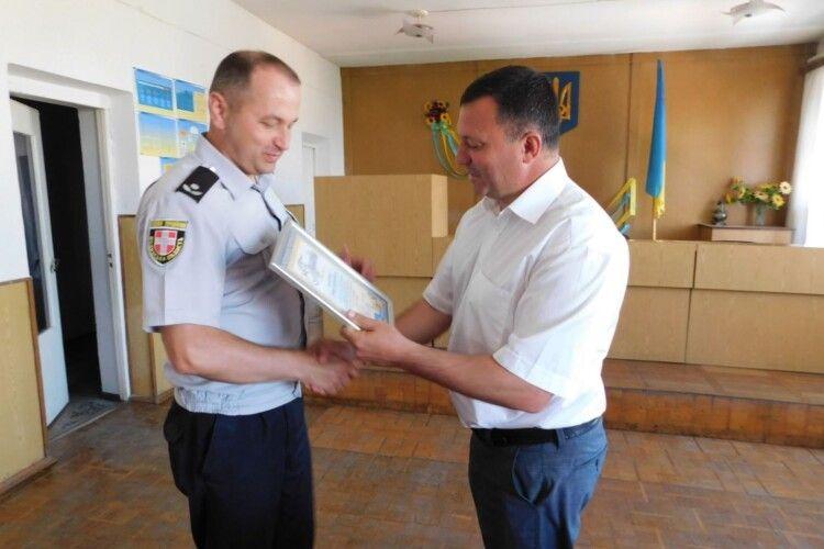 Горохівських правоохоронців нагородили з нагоди Дня дільничого офіцера поліції (Фото)