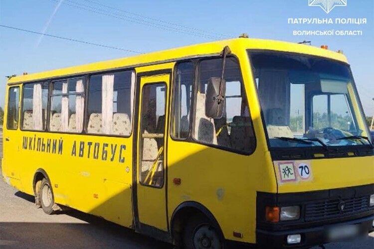 На Волині зловили п'яного водія шкільного автобуса