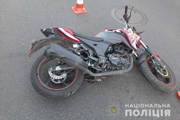 У Луцьку водій «Форда» збив мотоцикліста (Фото)