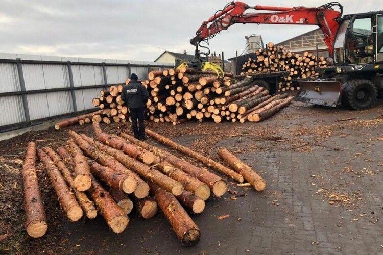 На Волині з пилорам вилучили незаконну деревину (Фото)
