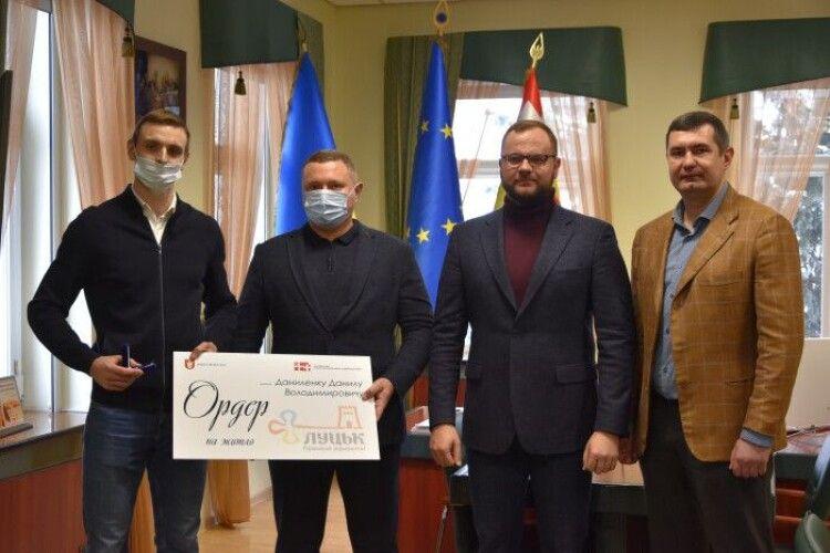 Луцькому спортсмену Данилу Даниленку вручили ключі від квартири