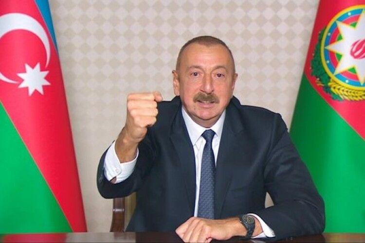 Алієв стверджує, що ЗС Азербайджану взяли під контроль ще 48 населених пунктів у Нагірному Карабаху