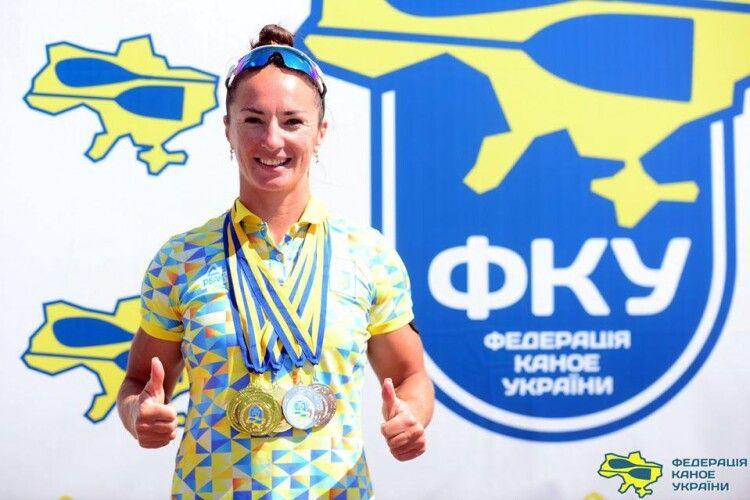 Луцька веслувальниця привезла з чемпіонату України 7 медалей