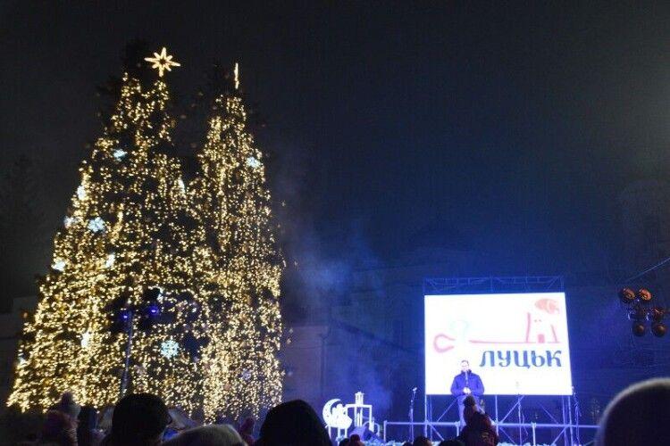 У Луцьку на святкуванні Нового року цьогоріч не економили