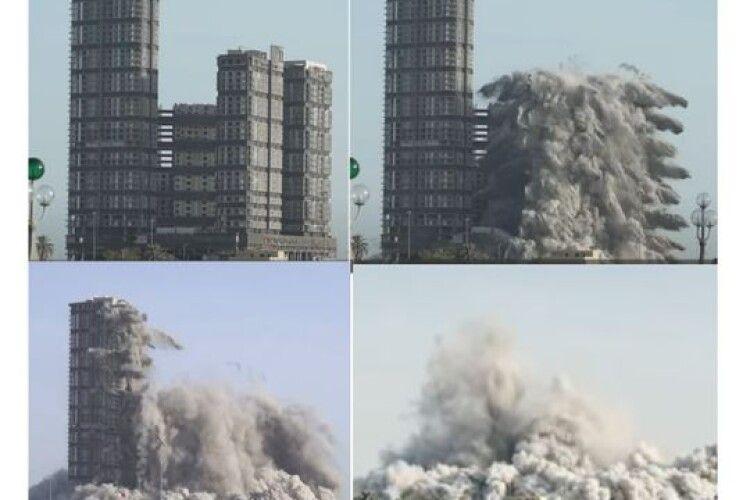 Ідеальна руйнація: у столиці ОАЕ підірвали чотири велетенські хмарочоси (Відео)