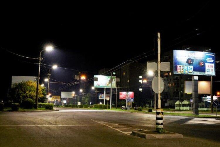 У Луцьку встановлять нове LED освітлення на 25 вулицях