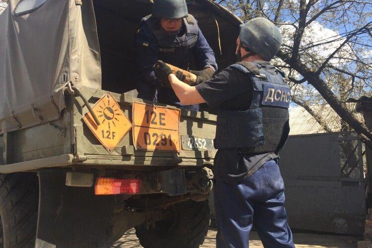 У Горохові під час будівництва виявили 175 снарядів (фото)