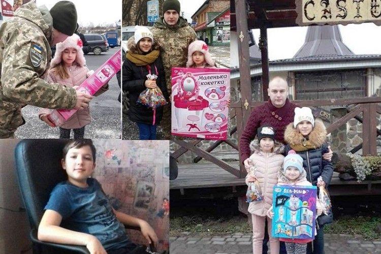 Бійці 14 бригади привітали дітей загиблих побратимів