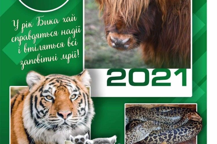 Луцький зоопарк випустив свій календар на 2021 рік