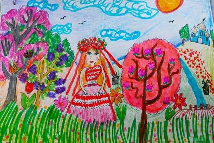 Шестирічна волинянка Божена Осійчук стала переможницею конкурсу дитячих малюнків «Весна і мама – дві краплини сонця» (Фото)