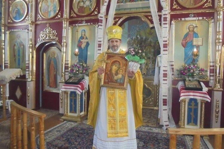 З нагоди 25-ліття служіння на парафії волинський священник одержав орден «За церковні заслуги» від митрополита, а також ікону Божої Матері від прихожан