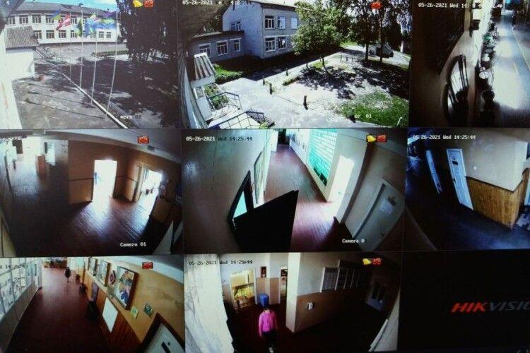На Волині у ліцеї встановили систему відеоспостереження