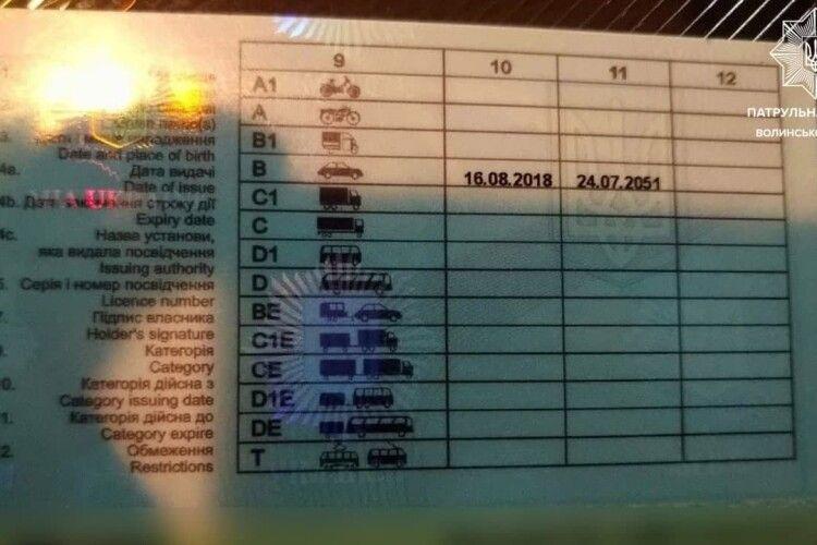 У Луцьку затримали водія BMW із фальшивим посвідченням, яке купив в інтернеті