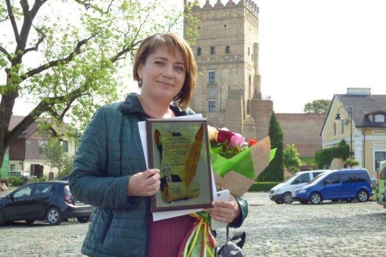 Волинська журналістка перемогла у двох номінаціях конкурсу «Честь професії»