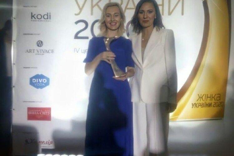Волинська лікарка стала переможницею премії «Жінка України-2020»