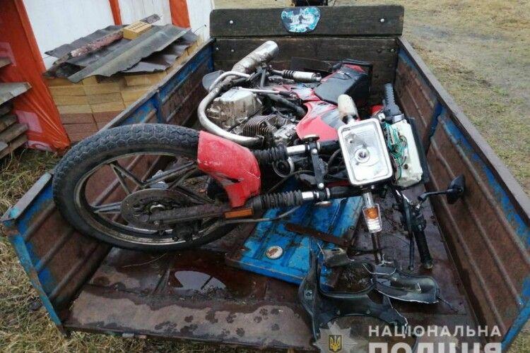 Волинянин викрав мотоцикл і потрапив на ньому у ДТП