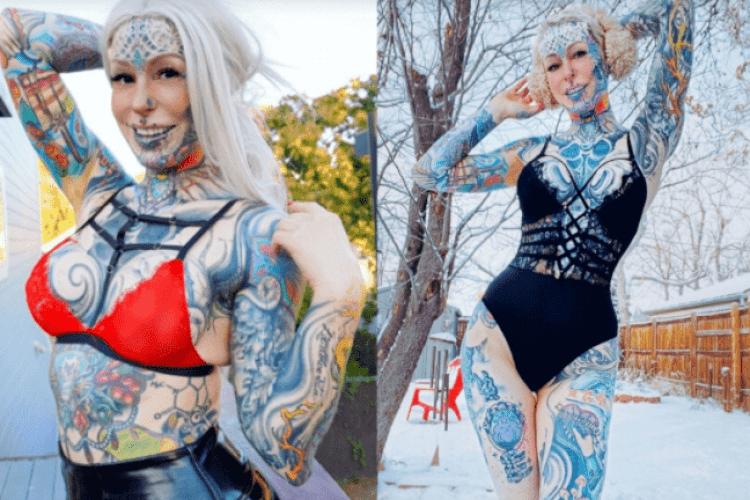 Дівчина збільшила груди, накачала силікон у голову й покрила 60% тіла татуюваннями (Фото)