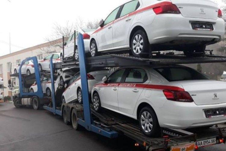 Для сімейних лікарів Волині придбали 23 автомобілі «Пежо 301»