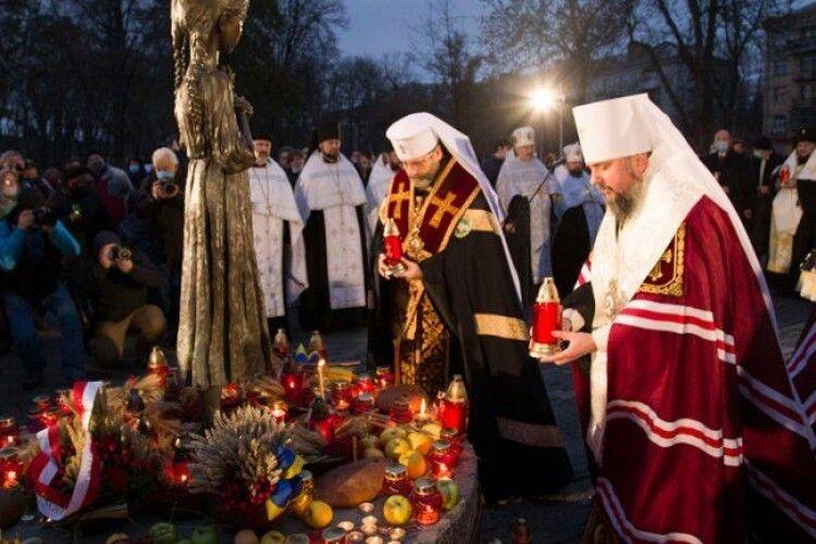 Предстоятелі УГКЦ та ПЦУ спільно відслужили Панахиду за жертв Голодомору
