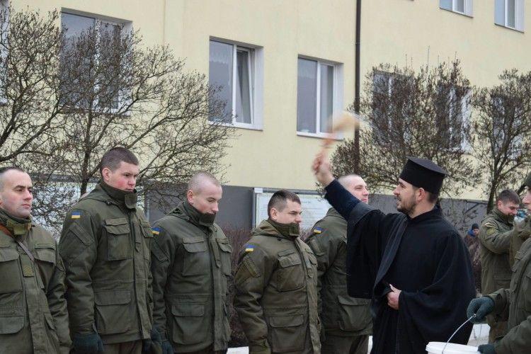 Луцьких нацгвардійців благословили на добру службу