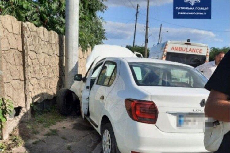 ДТП у Рівному: водійка знепритомніла за кермом