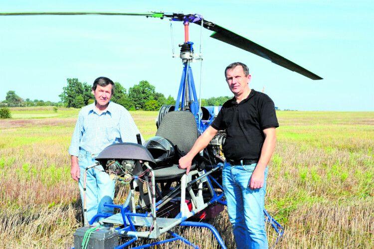 На Рівненщині батько ісин взялися зароботу— ізмайстрували… вертольота!