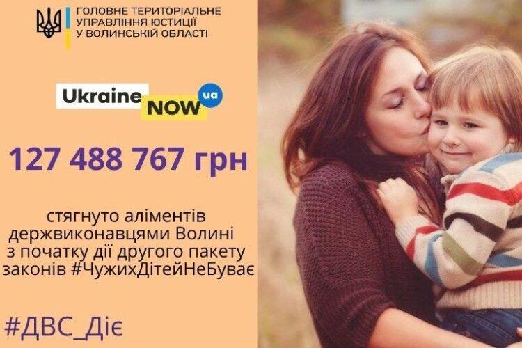 На Волині з недобросовісних батьків стягнули майже 127,5 мільйона гривень