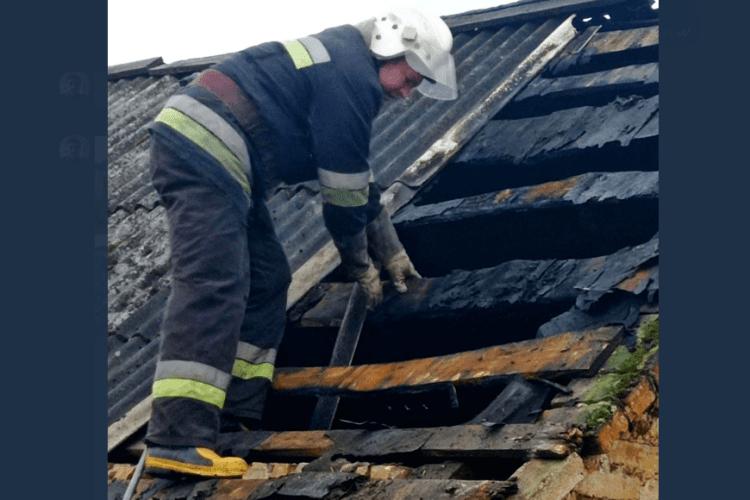 На Горохівщині спалахнув житловий будинок (Фото)