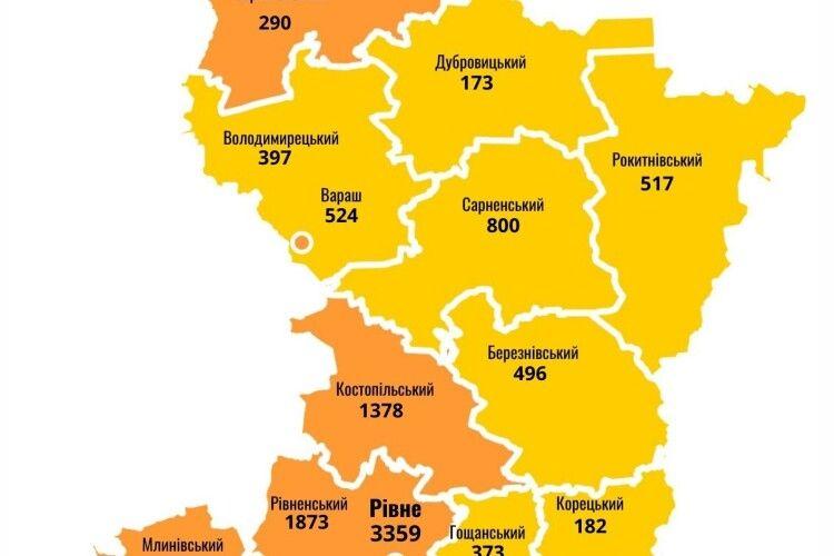 У лікарнях Рівненщини перебуває 500 людей із діагнозом COVID-19, 118 – у важкому стані