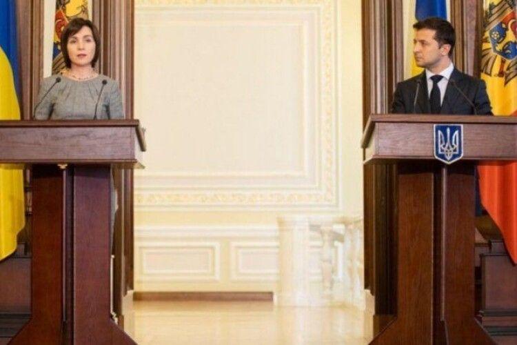 Прем'єрка Молдови під час зустрічі із Зеленським заговорила українською