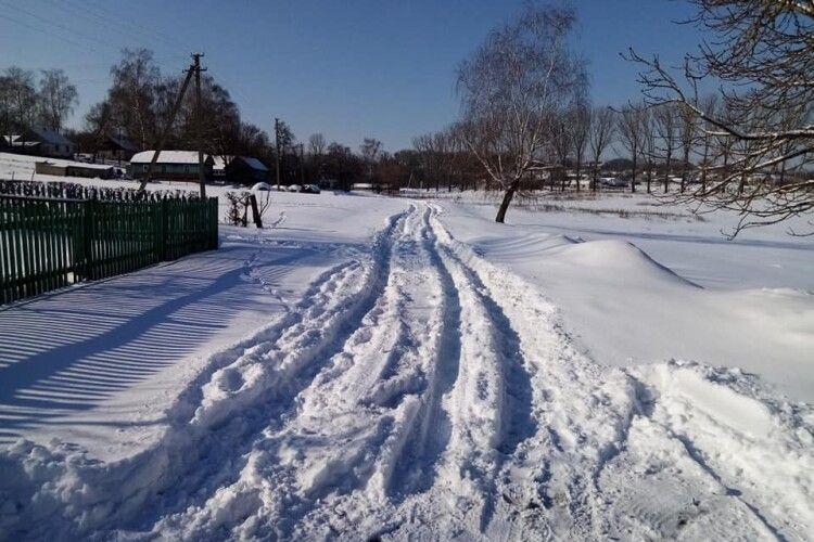 Зима повернула в дитинство: горохівчанин зазнімкував своє засніжене село (Фото)