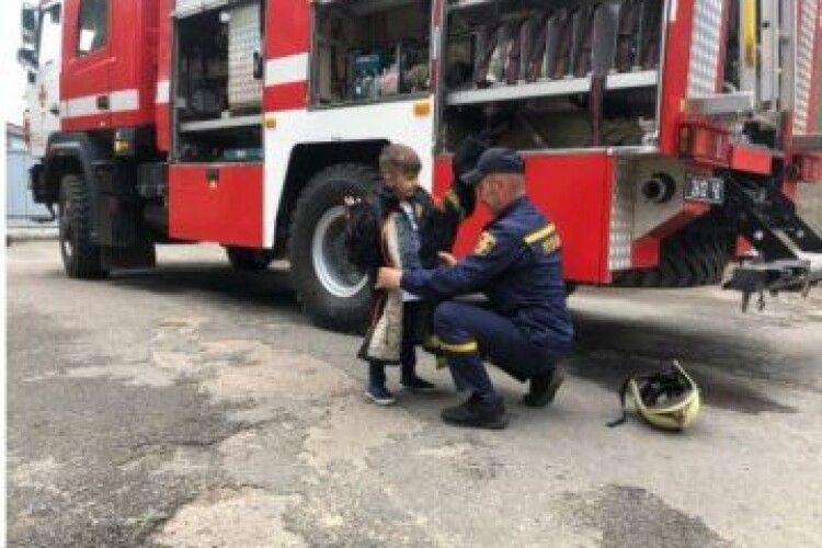 Шестирічному волинянину рятувальники влаштували сюрприз