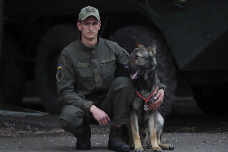 За віддану службу: пес Дерек отримав медаль командуючого Нацгвардії