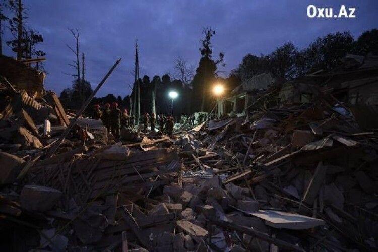 Азербайджан повідомив про загиблих внаслідок обстрілу міста Гянджа
