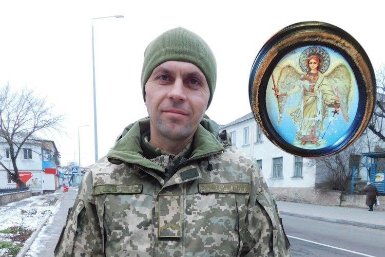 У бліндажі солдата зВолині вцілів лише образок архістратига Михаїла